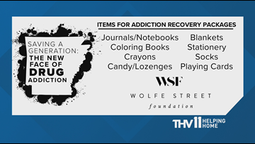 Items needed for those entering addiction recovery | THV11 Helping Home