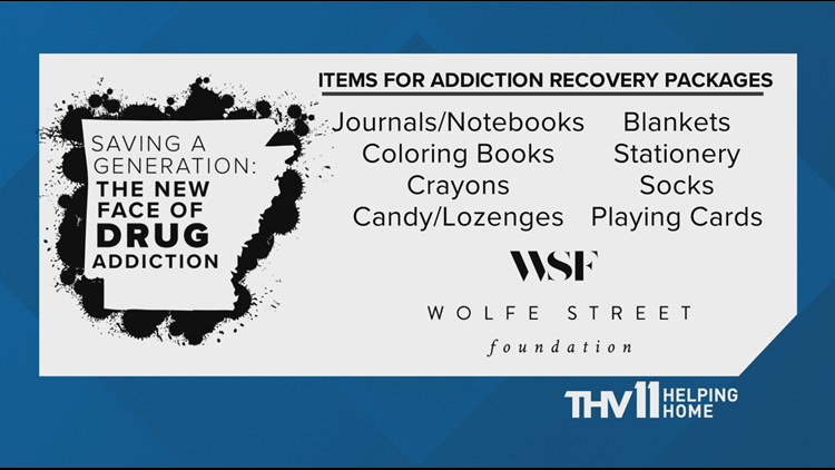 This Friday, to continue that effort, THV11's Craig O'Neill will be live at the Wolfe Street Center on S. Louisiana St. in Little Rock, collecting items for people entering rehabilitation.