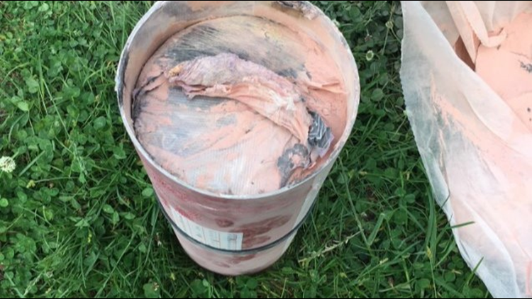 Nashville police say they found nearly 17 pounds of heroin in a fire extinguisher in the back of someone's car and a police dog helped them make the bust.