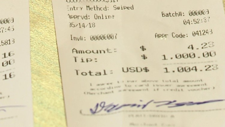 A Mississippi truck driver gave a Roland mother of two a $2,000 tip on Mother's day.