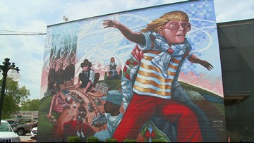 Conway artist finds solace in murals after devastating loss