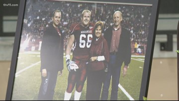 Friends and family honor former Razorback during memorial