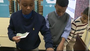 Little Rock students operate school bank to learn financial literacy