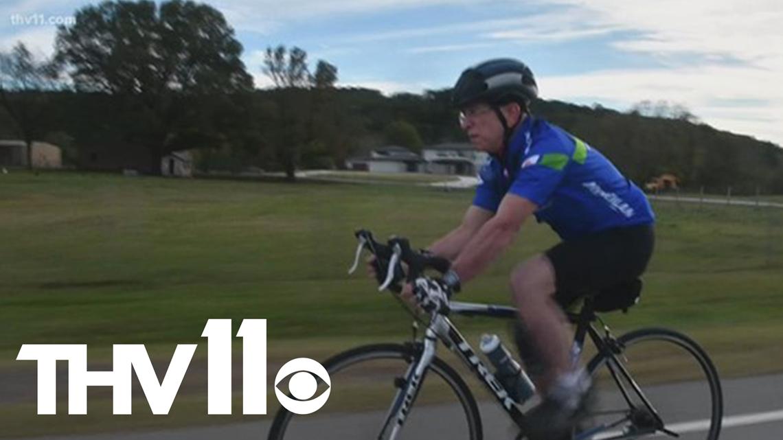 Arkansas man with terminal cancer biking 444 miles