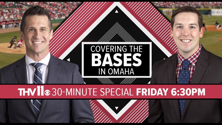 The THV11 team announced this week that in addition to its coverage live from the College World Series, they'll air a special 30-minute program Friday evening at 6:30: Covering the Bases in Omaha.