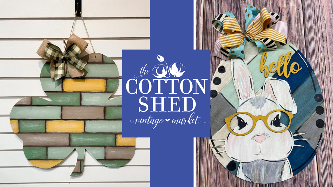 Get ready for spring with door hangers from Cotton Shed Vintage Market