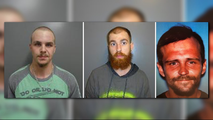 Robert Lynn Pollard, 18, of Evening Shade, Christopher John Frey Jr., 25, of Horseshoe Bend and Randall Paul Sledge, 31, of Conway escaped from the Sharp County Jail overnight on July 10, according to the Sharp County Sheriff's Office.