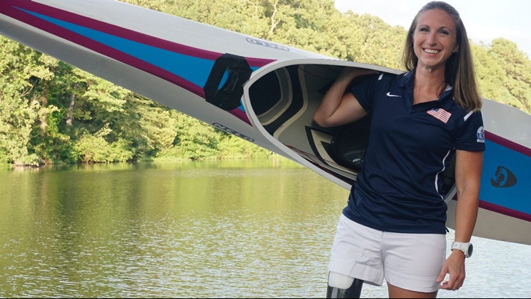 Amputee athlete is paracanoe, kayak racing with Team USA