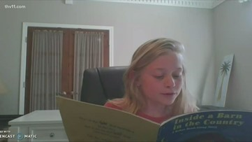 Arkansas Virtual Academy students read to nursing home residents