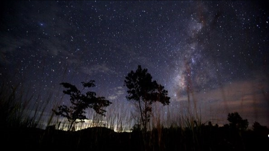 What is the 'Perseid Meteor Shower' and how can I see it in Arkansas?