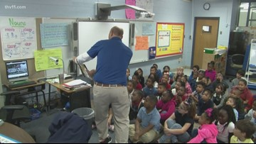 First-graders at Brady Elementary aren't scared of Darth Vader