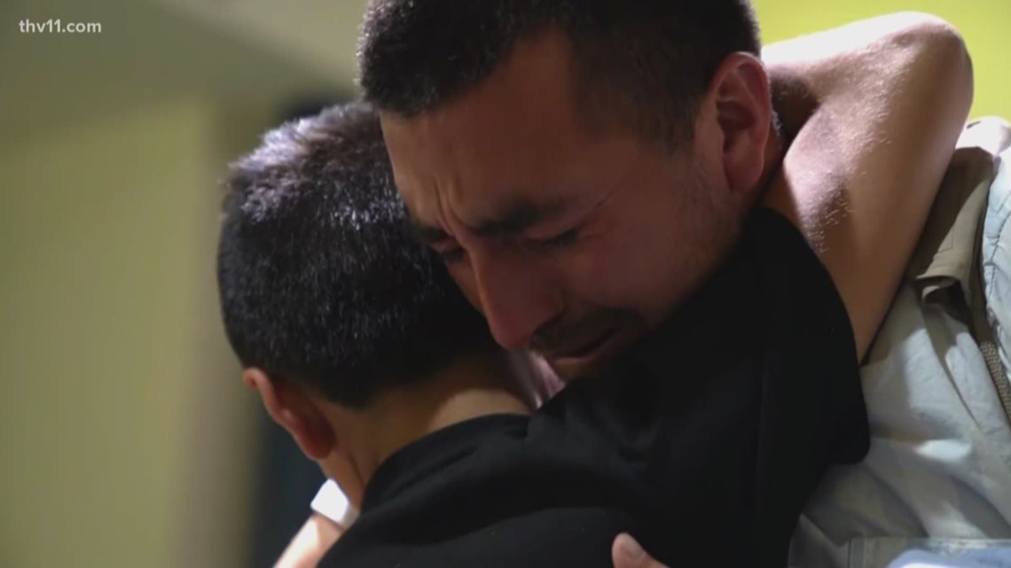 Father and son separated at border reunite in Arkansas after 326 days