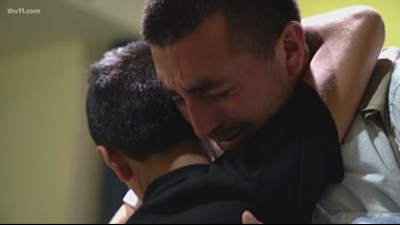 Father and son reunited in Arkansas following separation at border