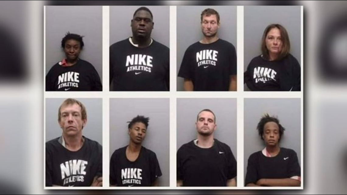 Union County Sheriff's Office put inmates in Nike shirts for