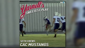 Central Arkansas Christian Mustangs win Yarnell's Sweetest Play of the Week for week 8