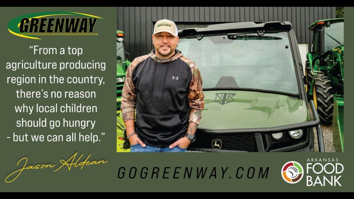 Greenway Equipment, Jason Aldean fundraiser benefitting local food banks