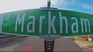 Where did the name of Little Rock's 'Markham' come from?