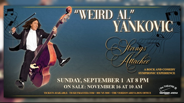 Weird Al Yankovic bringing the 'Strings Attached' tour to the Theater at Verizon Arena