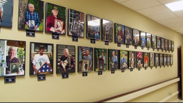 Faces of Veterans | VA facilities hang veteran portraits, post videos to honor their service