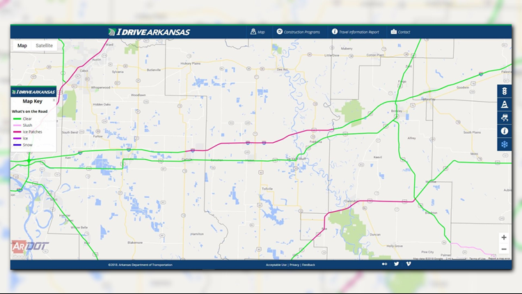 I 40 Arkansas Map.Ardot Reports Sleeping Drivers In I 40 Westbound Traffic Some