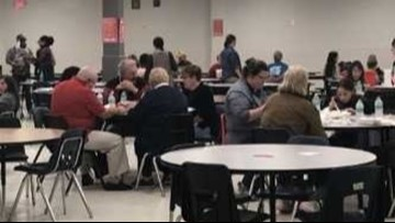 Over 1,000 people gathered at Jacksonville High School for early Thanksgiving celebration