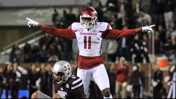 Razorback DBs suspended over alleged flirting before Mississippi State game