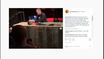 'God you're Good'   Tennessee basketball players brake for baptism