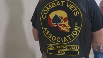 Combat Veterans Motorcycle Association serves free meal to transitioning veterans