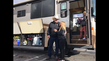 Watch: Mom who lost home in Camp Fire gets free RV from Oregon man
