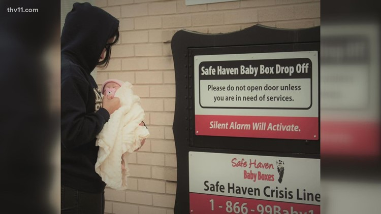 Arkansas unveils sixth 'Safe Haven Baby Box' in Maumelle
