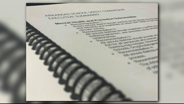 School safety commission presents report, recommendations to Gov. Hutchinson