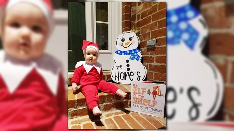 Conway family turns their baby into adorable Elf on the Shelf