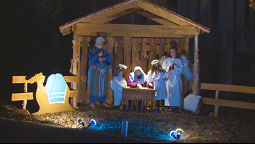 Actors portray scenes from Nativity story in annual drive-thru at Winfield United Methodist Church