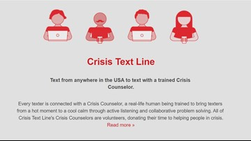 Crisis text line offers free, 24/7 service to help people fighting depression