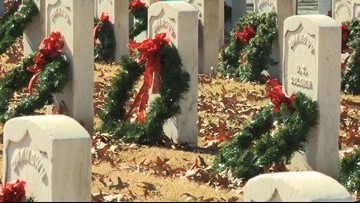 Arkansas cemeteries receive fewer donations for Wreaths Across America, need volunteers