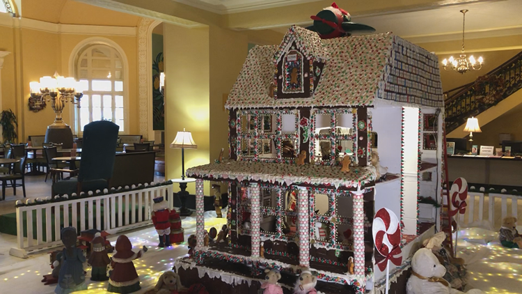 This 8-foot gingerbread house is an Arkansas delight!