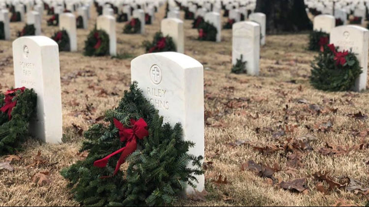 Fallen veterans honored with 'Wreaths Across America Day' ceremony at Little Rock National Cemetery
