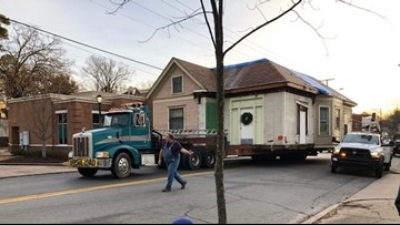 Hillcrest neighborhood moves 100 year old home to new location, The Anderson House