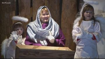 Annual drive-thru living Nativity scene