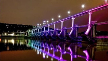 Little Rock to light bridges in honor of all 28 area high school graduates with school colors