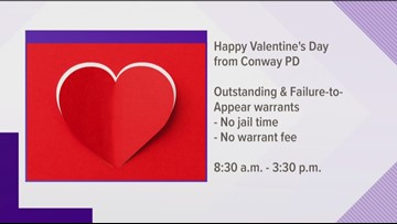 Happy Valentine's Day from Conway, Faulkner County