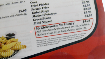 Mama D's Diner goes viral for 'My Girlfriend is Not Hungry' menu option