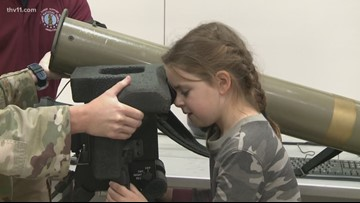 6-year-old who wanted girl army toys gets to meet real airmen at Camp Robinson