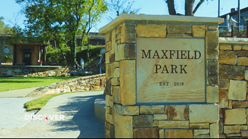 Maxfield Park is designed with many recycled materials from the city of Batesville