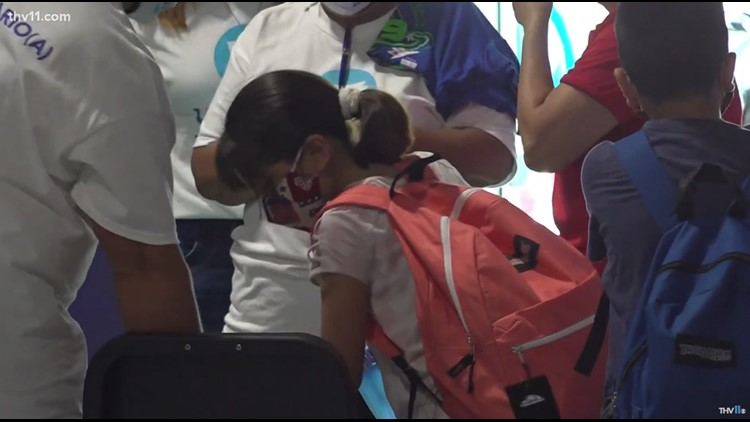 LRSD gives out roughly 200 vaccines, 500 backpacks in back-to-school clinic