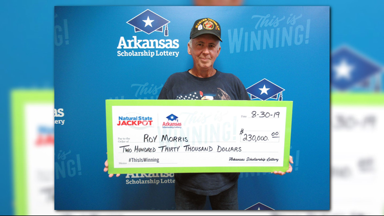 Arkansas veteran claims $230,000 in lottery's Natural State Jackpot