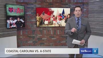 A-State overcomes 5 turnovers to beat Coastal Carolina 28-27