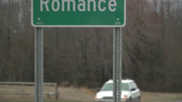 Love is in the air, and in the mail, at the post office in Romance, Ark.