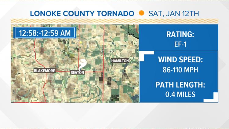 Lonoke County tornado 01/11