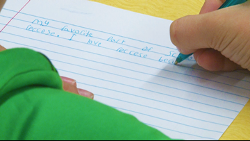 Elementary school students ask for more recess time by writing letters to state legislators